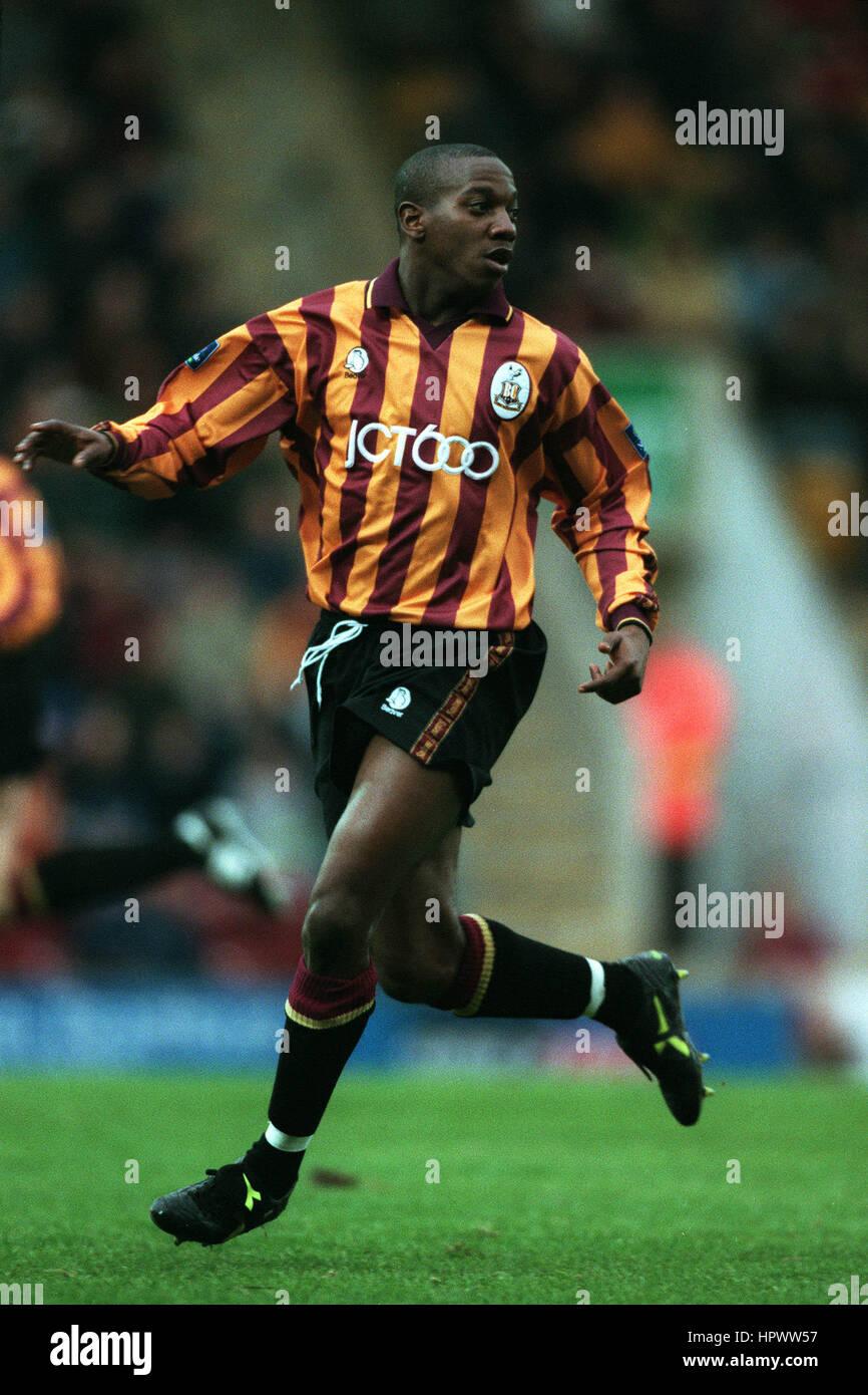 ISAIAH RANKIN BRADFORD CITY FC 02 November 1998 - Stock Image