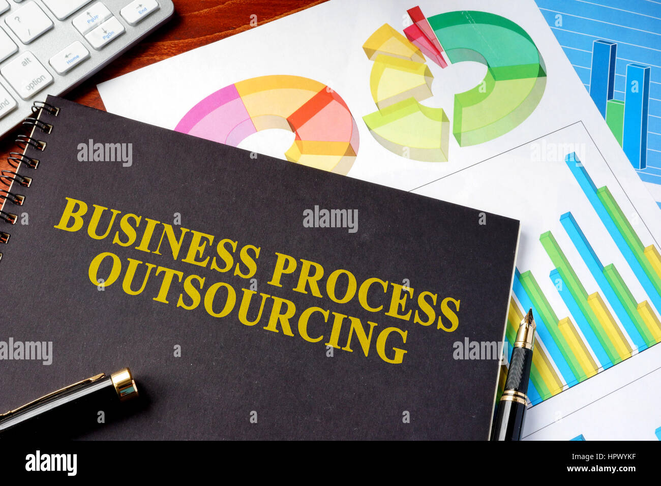 Book with title Business Process Outsourcing BPO. - Stock Image
