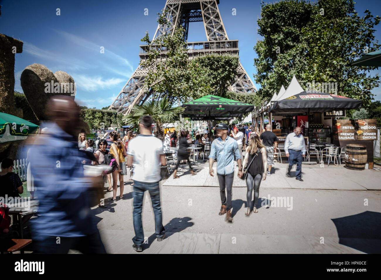 Street Market at Champ de Mars, Paris, France - Stock Image
