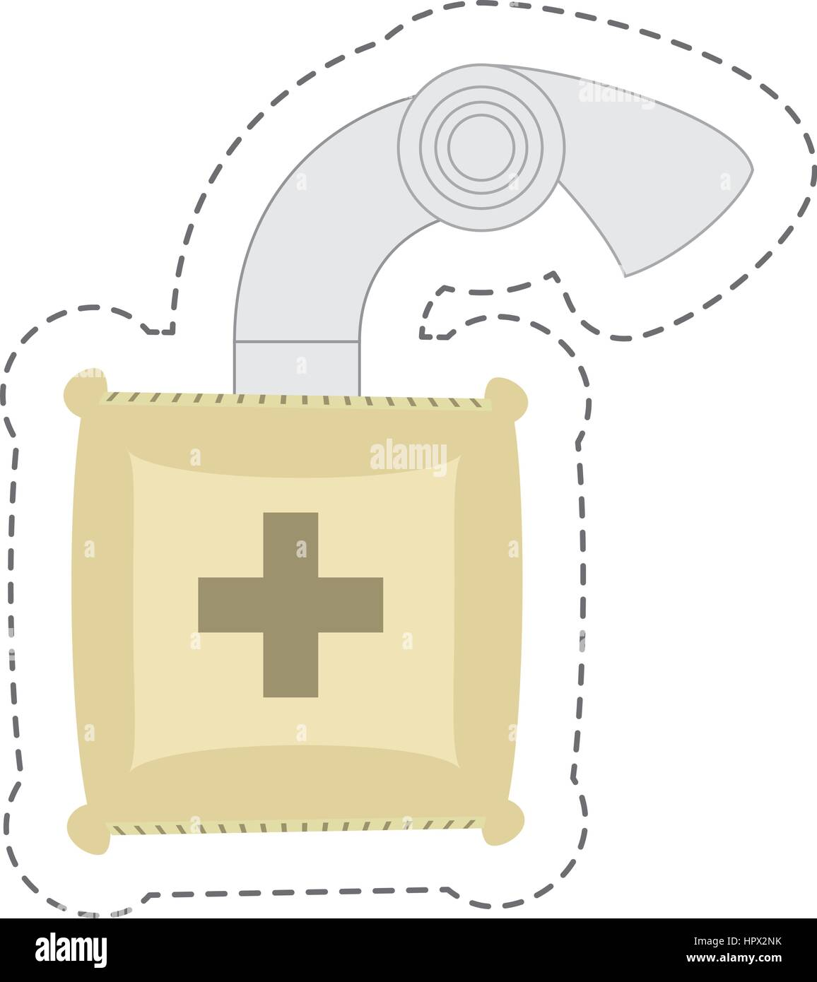 cartoon iv medicine saline bag - Stock Vector