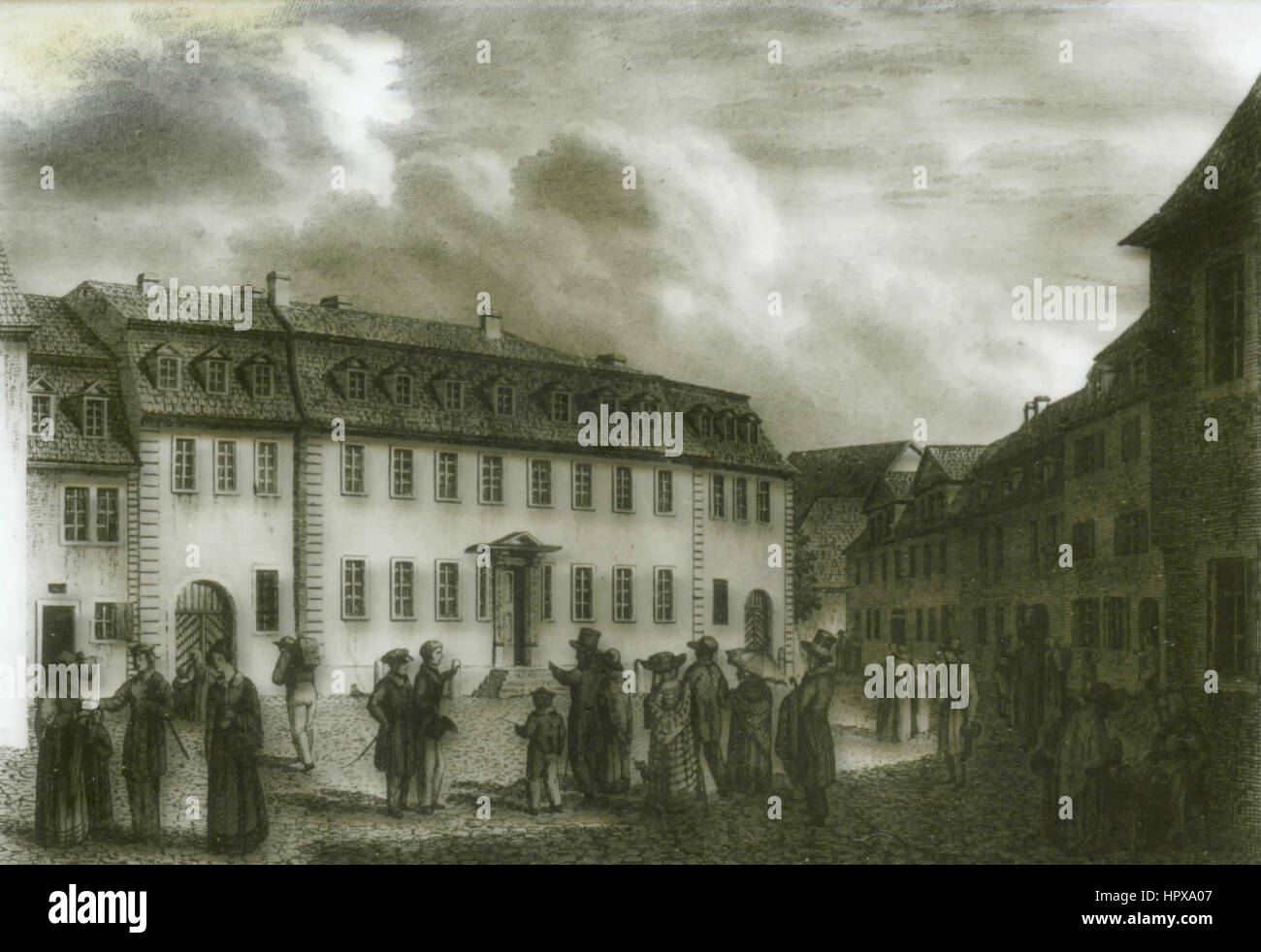 Goethe house in Weimar in 1827, Germany - Stock Image