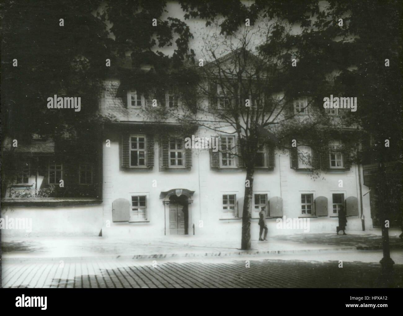 Schiller house, Weimar, Germany - Stock Image