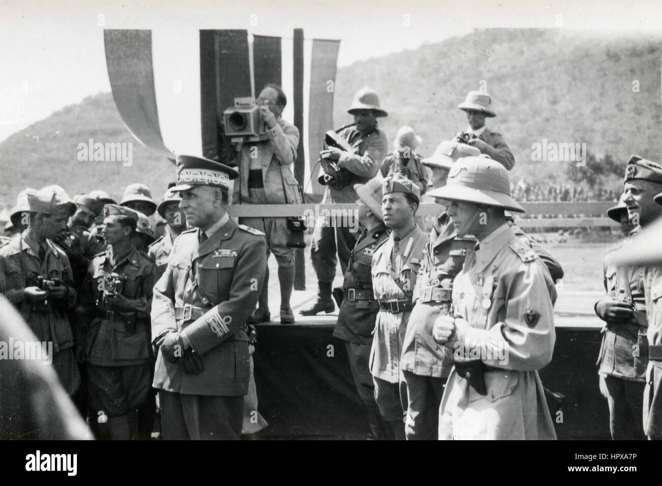 Italian Marshal Rodolfo Graziani, Ethiopia - Stock Image
