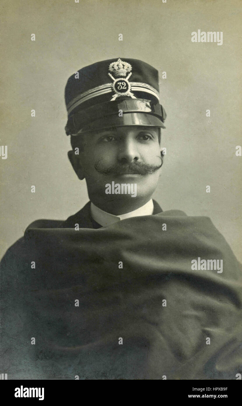 Italian military officer of the First World War - Stock Image