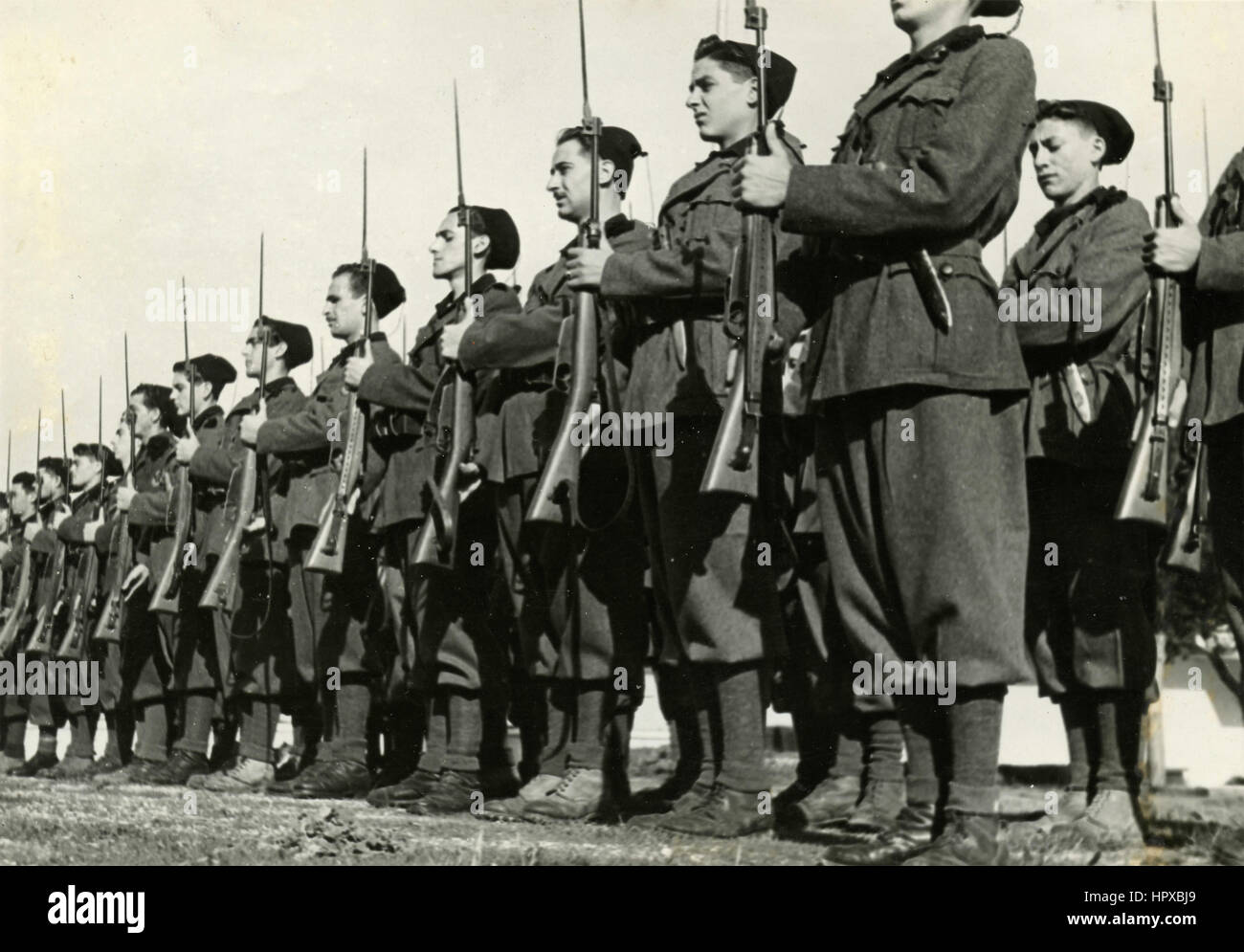 young italian fascist soldiers stock photo 134574897 alamy