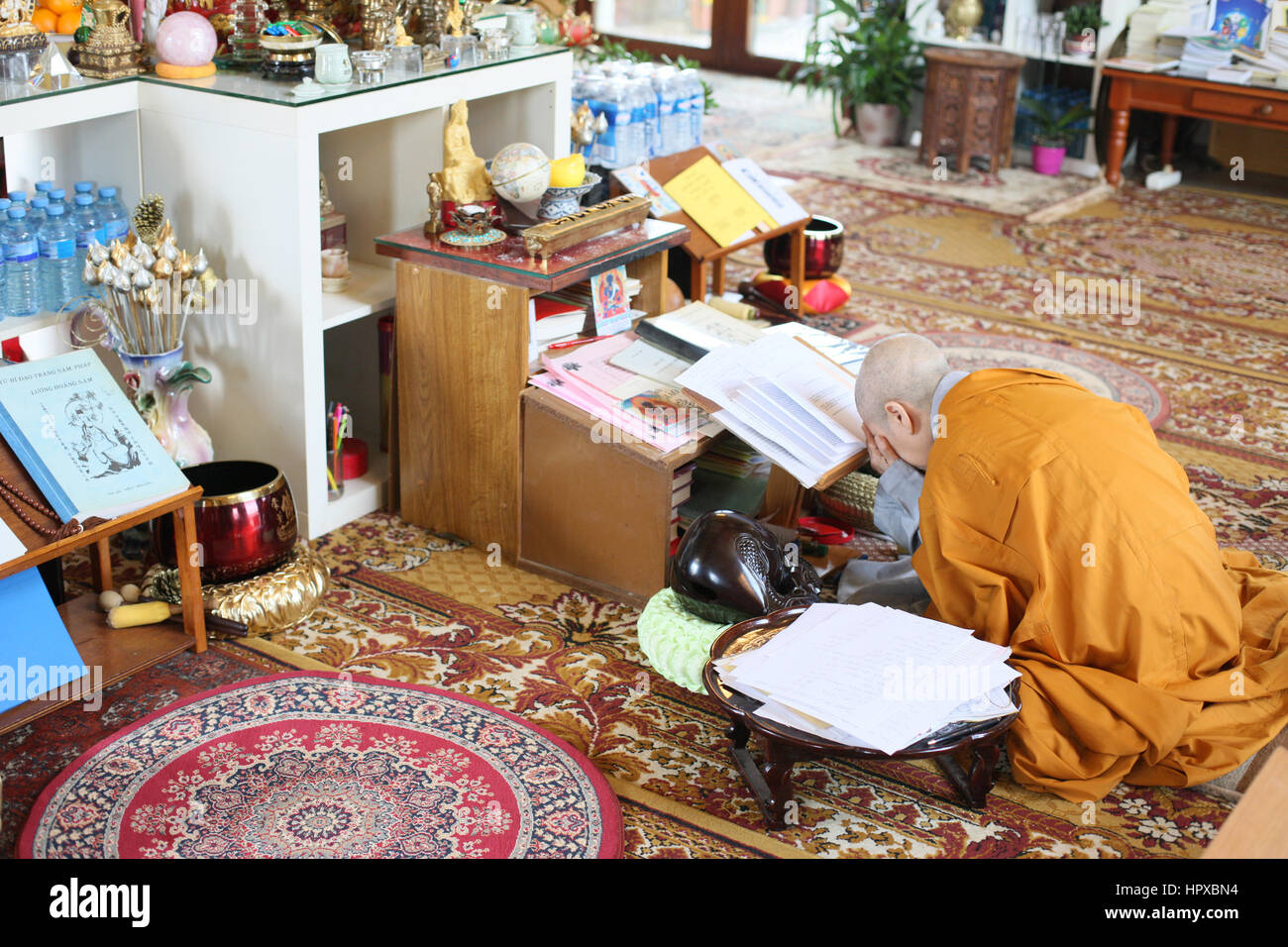 Buddhist ceremony. - Stock Image