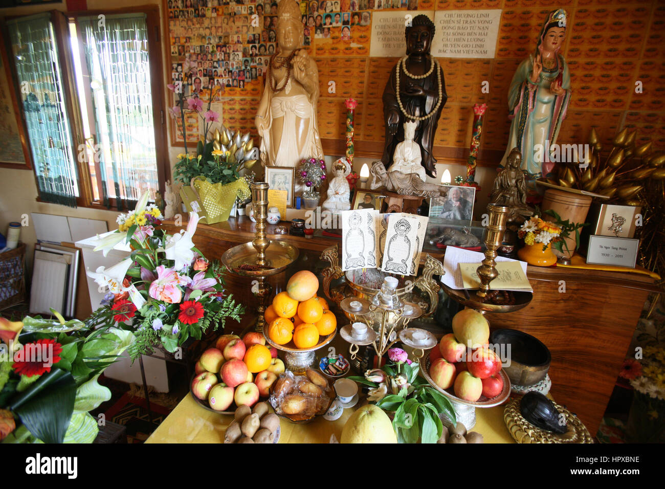 Altar of the ancestors. - Stock Image