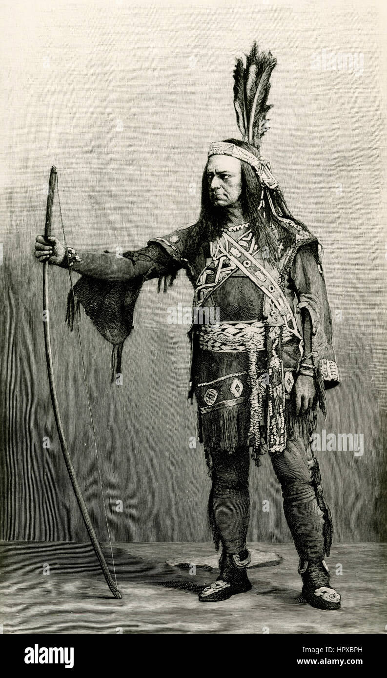 Edwin Forrest as Matamora, the Last of the Wampanoags - Stock Image