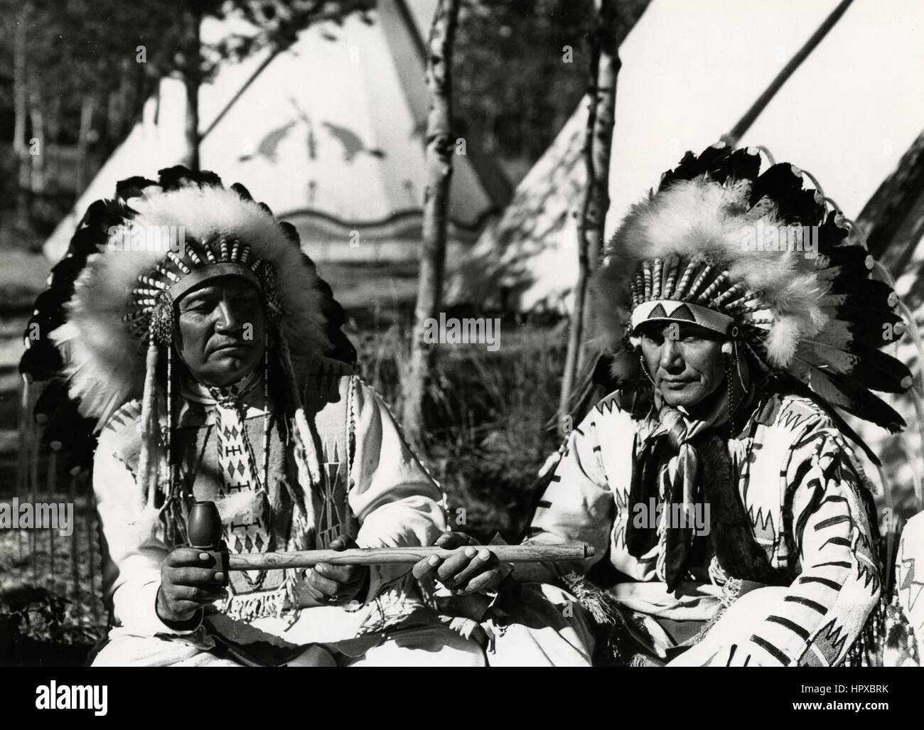 Two Sioux men, USA - Stock Image