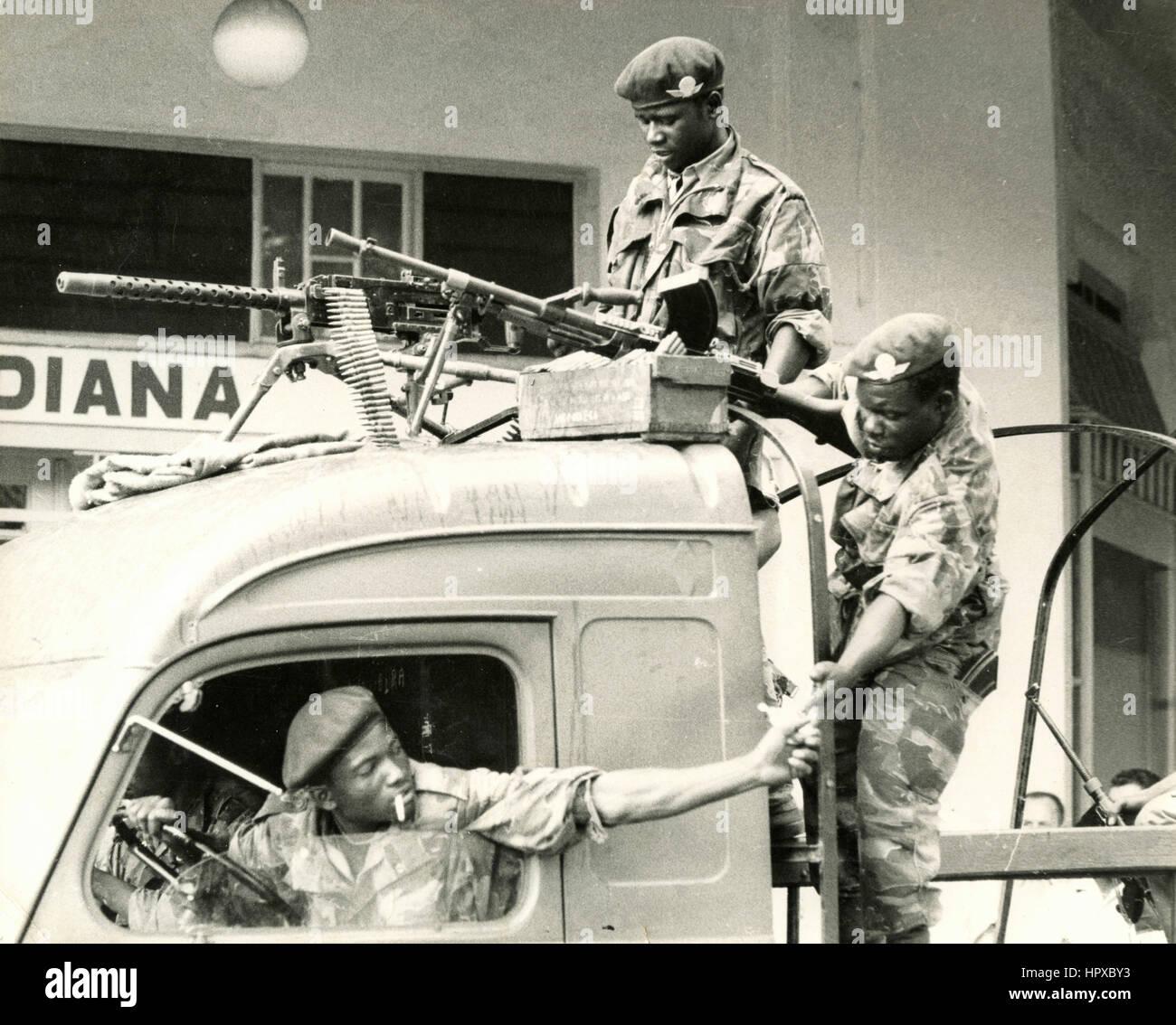 Military troop, Uganda - Stock Image