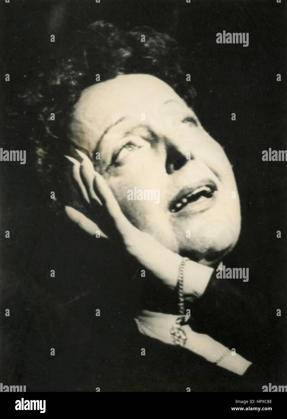 French singer Edith Piaf - Stock Image