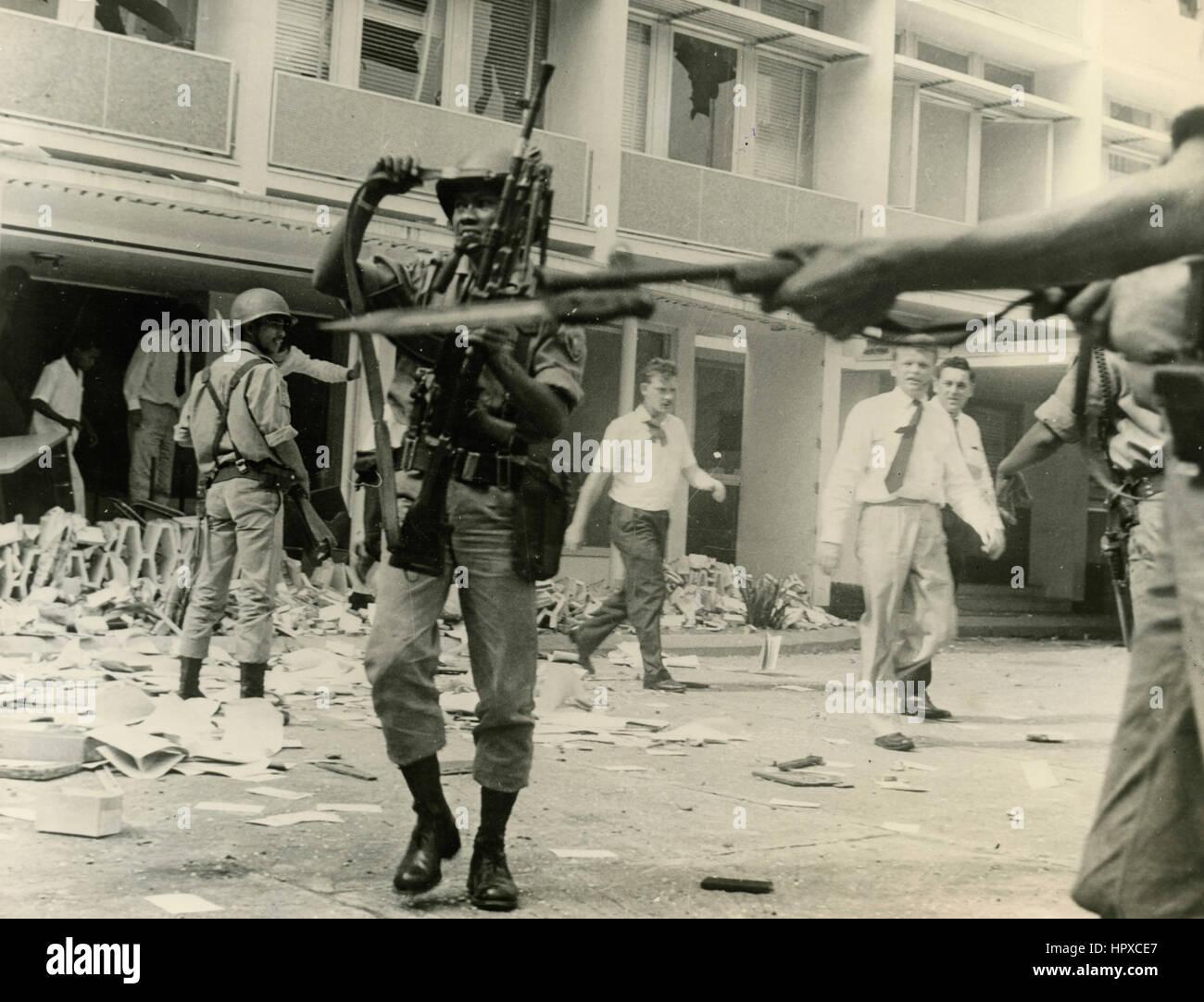 City riots, USA - Stock Image