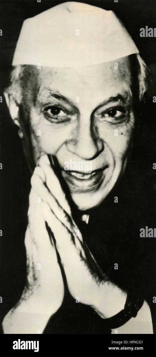 Indian politician Jawaharlal Nehru - Stock Image