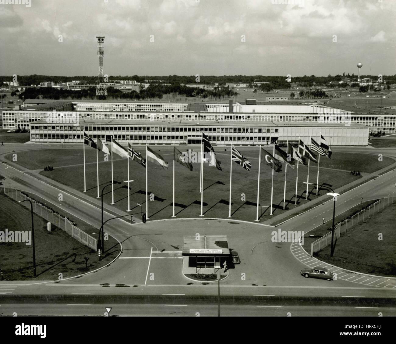 NATO Supreme Headquarters Allied Powers Europe (SHAPE), Mons, Belgium - Stock Image