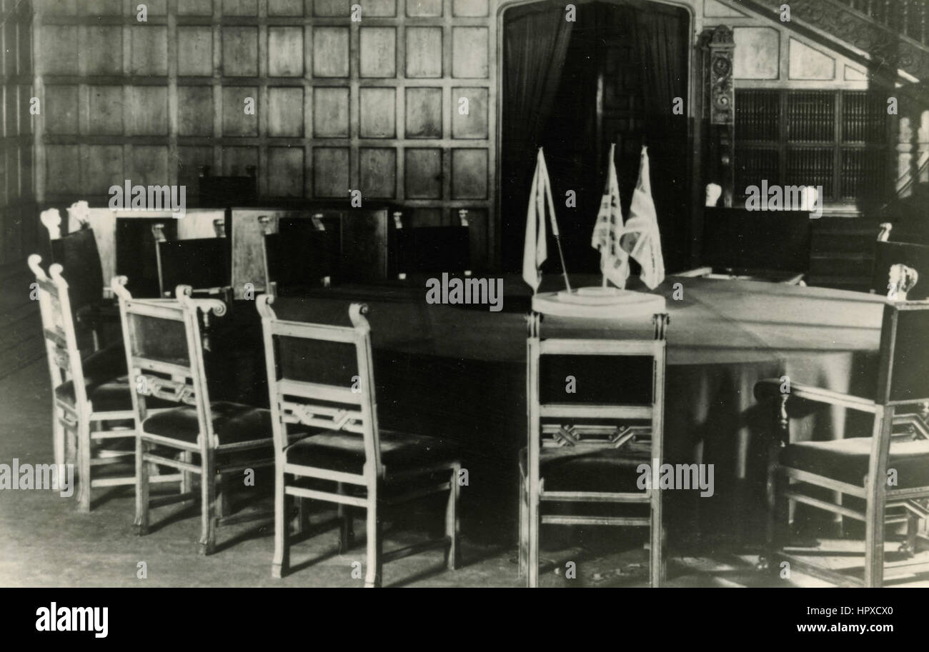The round table of the negotiation after World War 2, Potsdam, Germany - Stock Image
