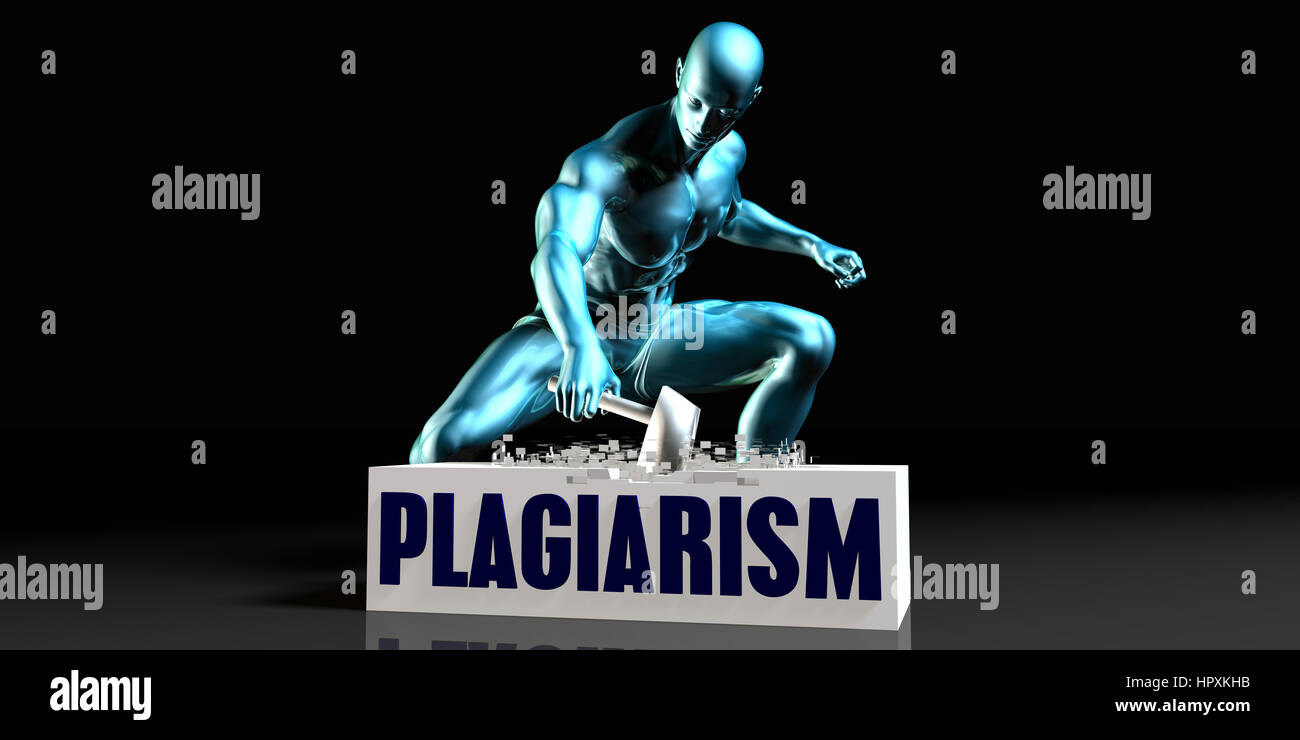 Get Rid of Plagiarism and Remove the Problem - Stock Image