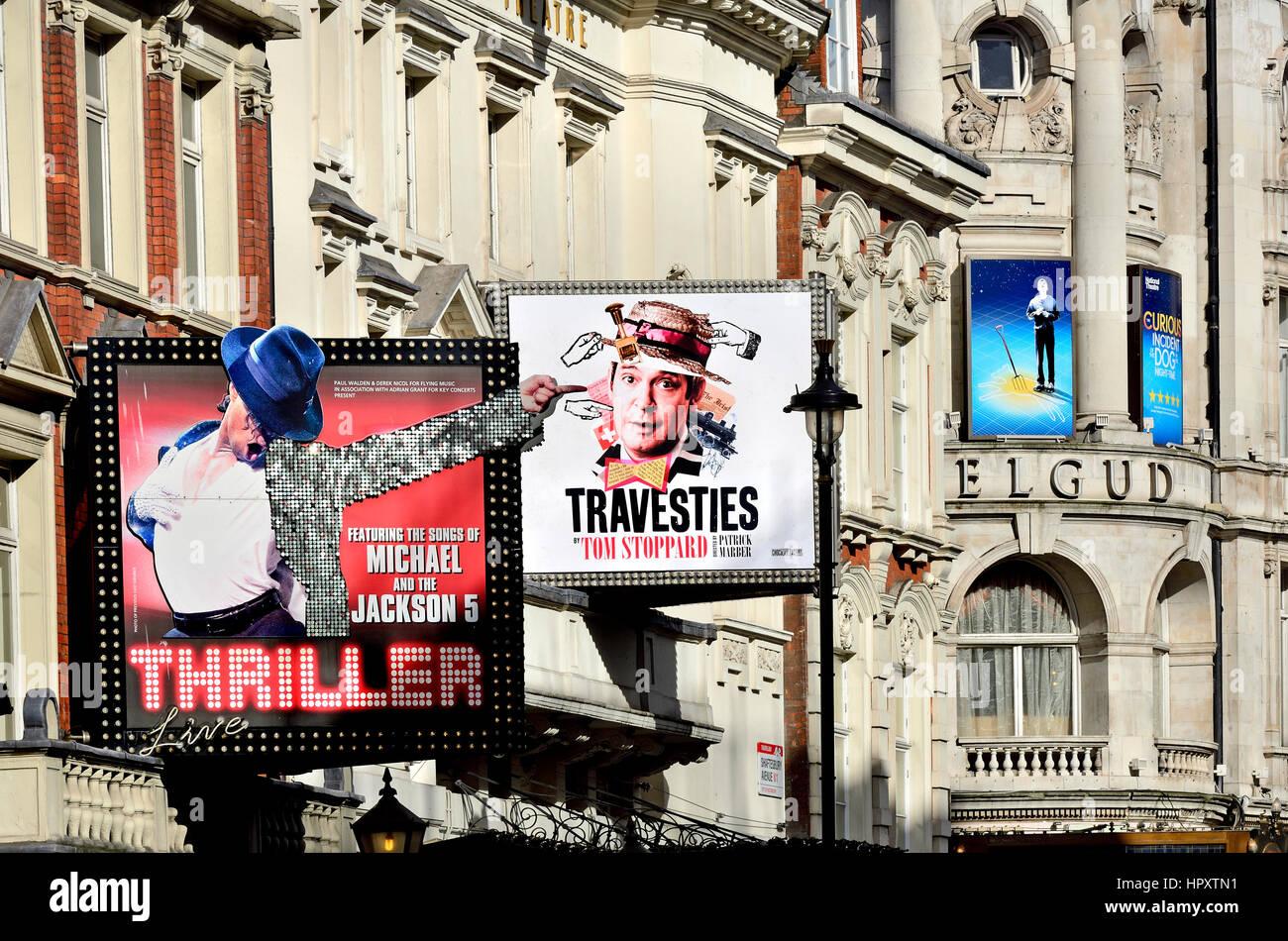 London, England, UK. Tom Stoppard's 'Travesties' at the Apollo Theatre, Shaftesbury Avenue, Feb 2017 Stock Photo