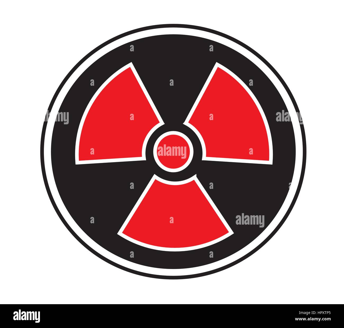 Radiation sign icon vector isolated white background. - Stock Vector