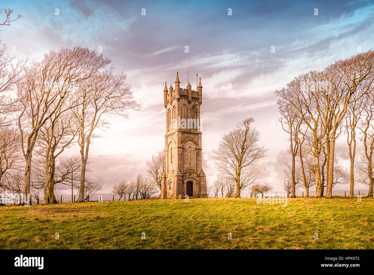 The Wallace Tower also Known as the Barnweil Tower in South Ayrshire Near the Scottish Town of Craigie. In Memory - Stock Image