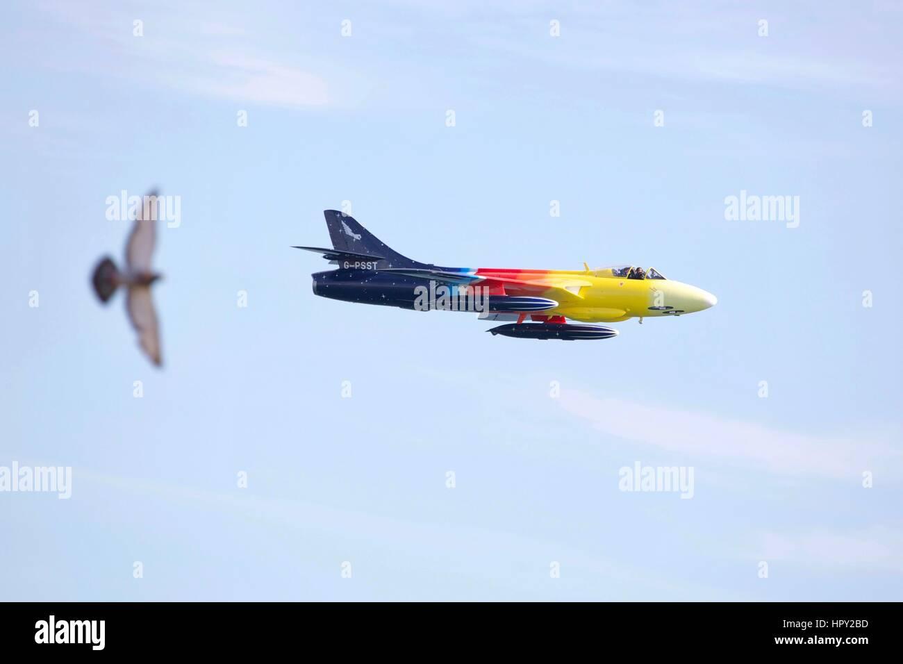 Hawker Hunter 'Miss Demeanour' Stock Photo
