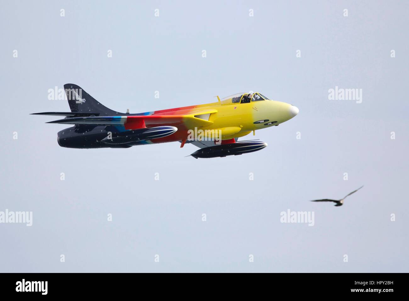Hawker Hunter 'Miss Demeanour' Stock Photo