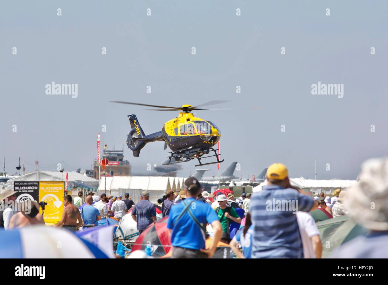 Police Helicopter - Stock Image