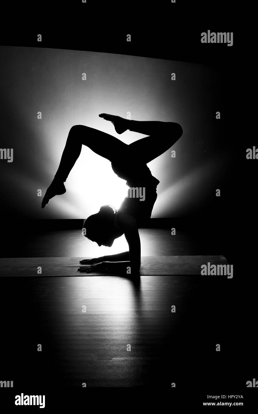 Forearm Stand High Resolution Stock Photography And Images Alamy