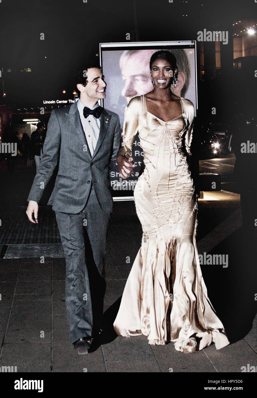 Zac Posen and Sessilee Lopez after the Fashion Awards in New York City Stock Photo