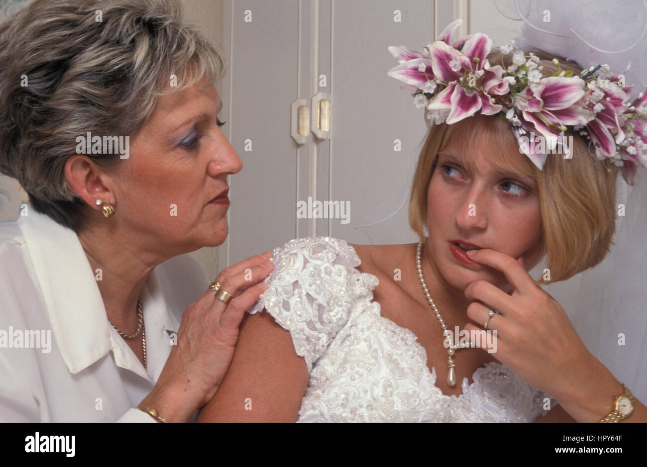 Young Mother Of The Bride: Scared Bride Stock Photos & Scared Bride Stock Images