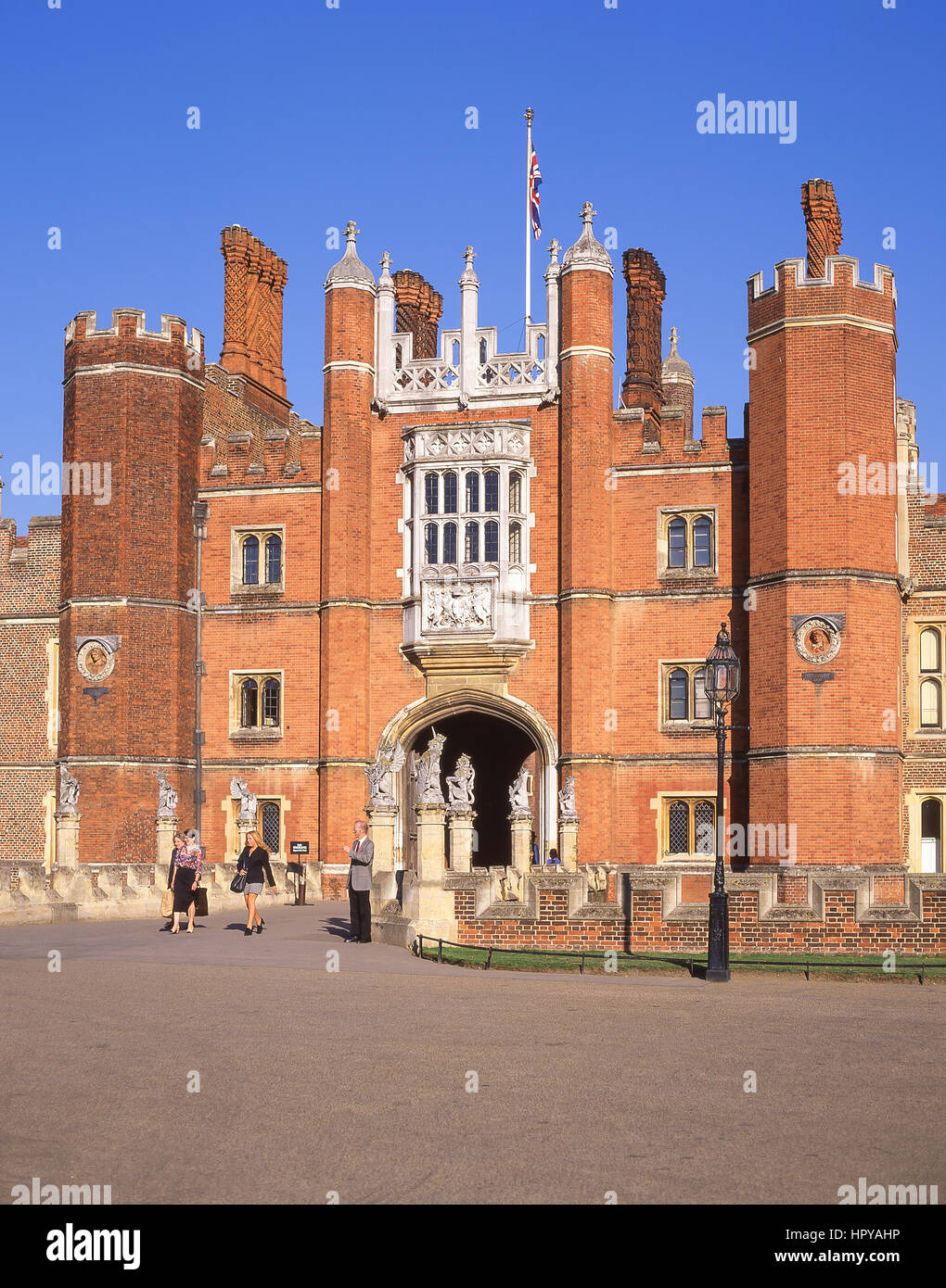 The Great Gatehouse Hampton Court Palace, Hampton, London Borough of Richmond upon Thames, Greater London, England, - Stock Image
