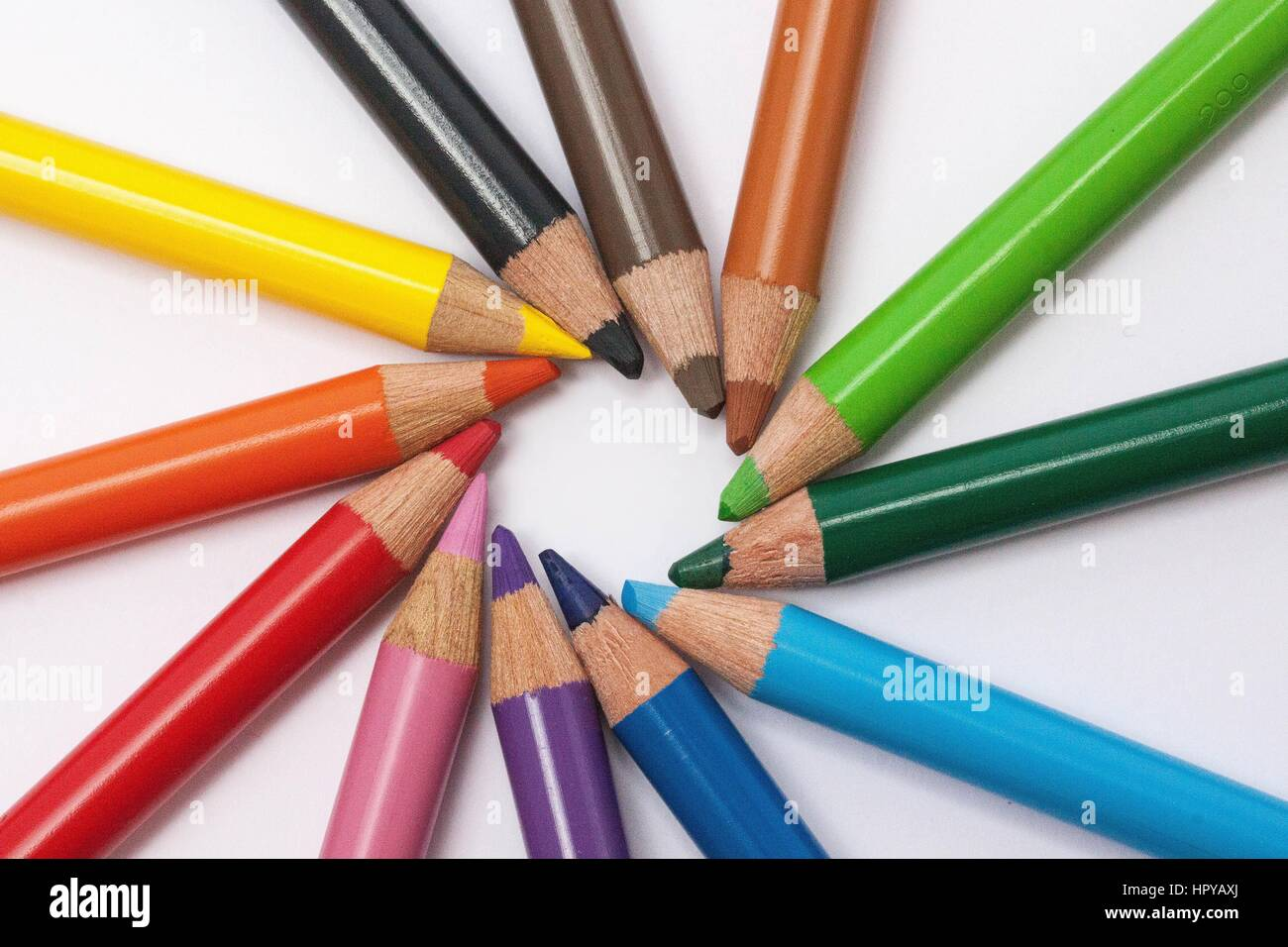 A good image of color pencil which gives a beautiful images background for your paintings or for any photo work.and Stock Photo