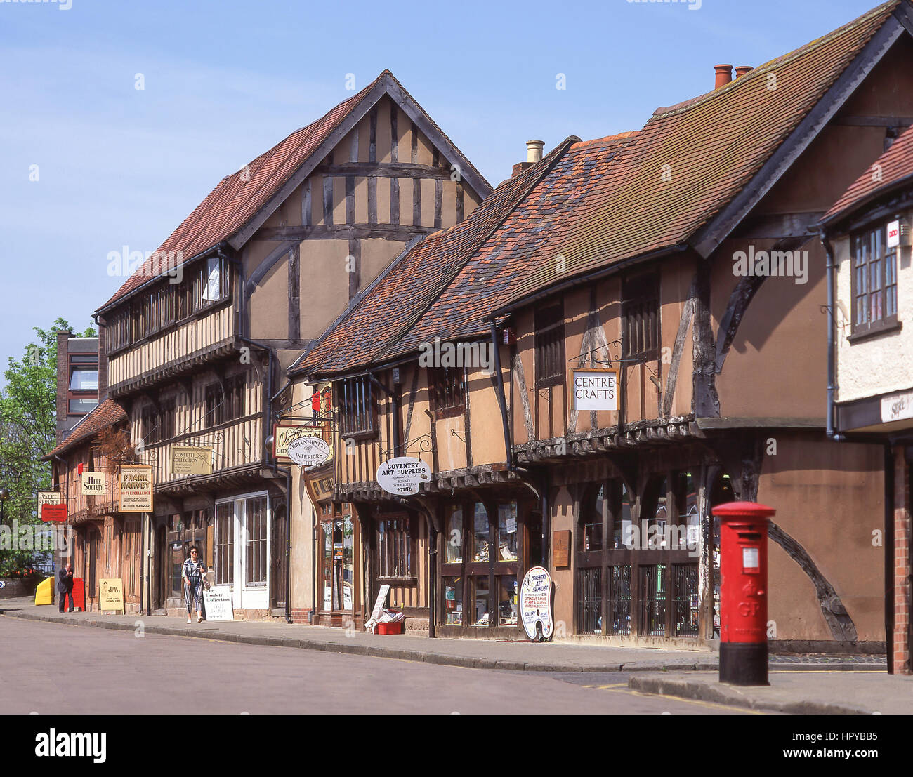 14th century timber-framed buildings, Spon Street, Coventry, West Midlands, England, United Kingdom - Stock Image