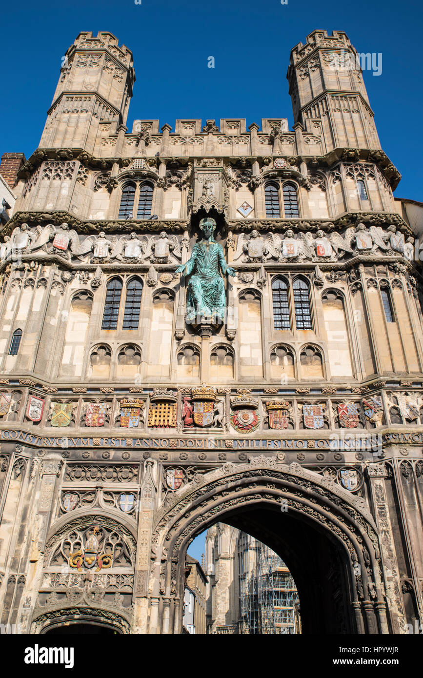 2c16ba080681 The main city entrance to the grounds of Canterbury Cathedral in the  historic city of Canterbury