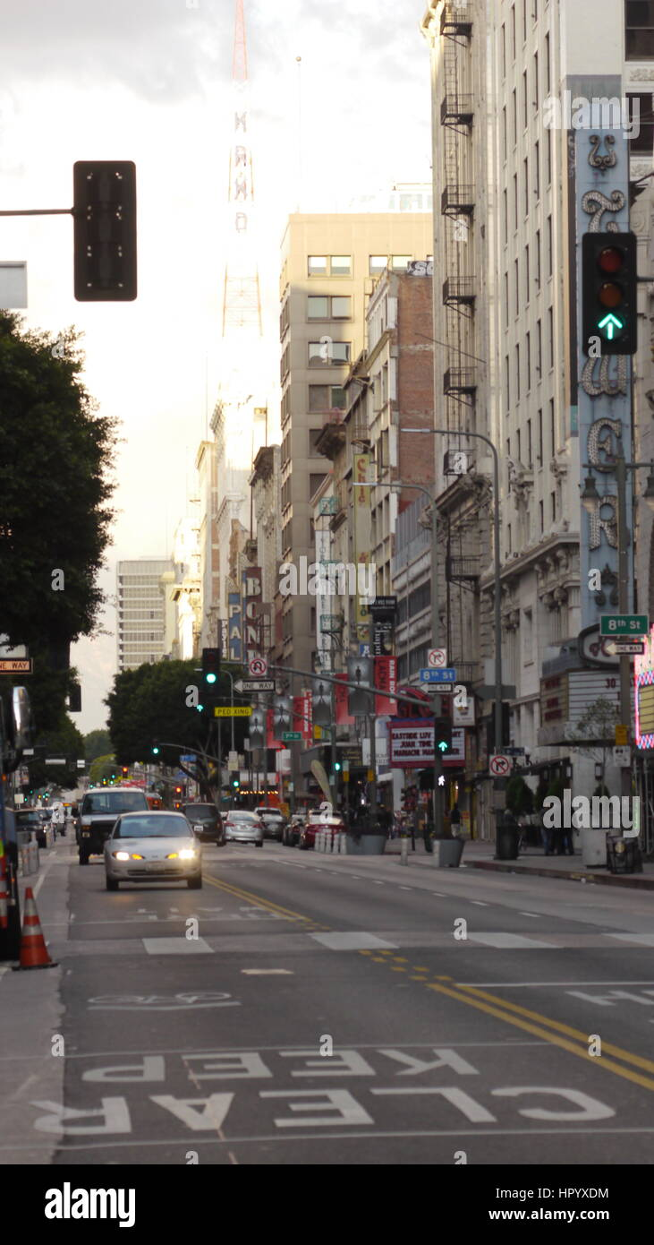 Downtown LA.Street scenes of downtown Los Angeles. - Stock Image
