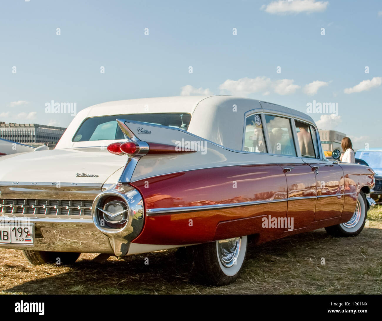 Moscow, Russia - June 22, 2016: Exhibition of rare and vintage cars. Exclusive car models - Stock Image
