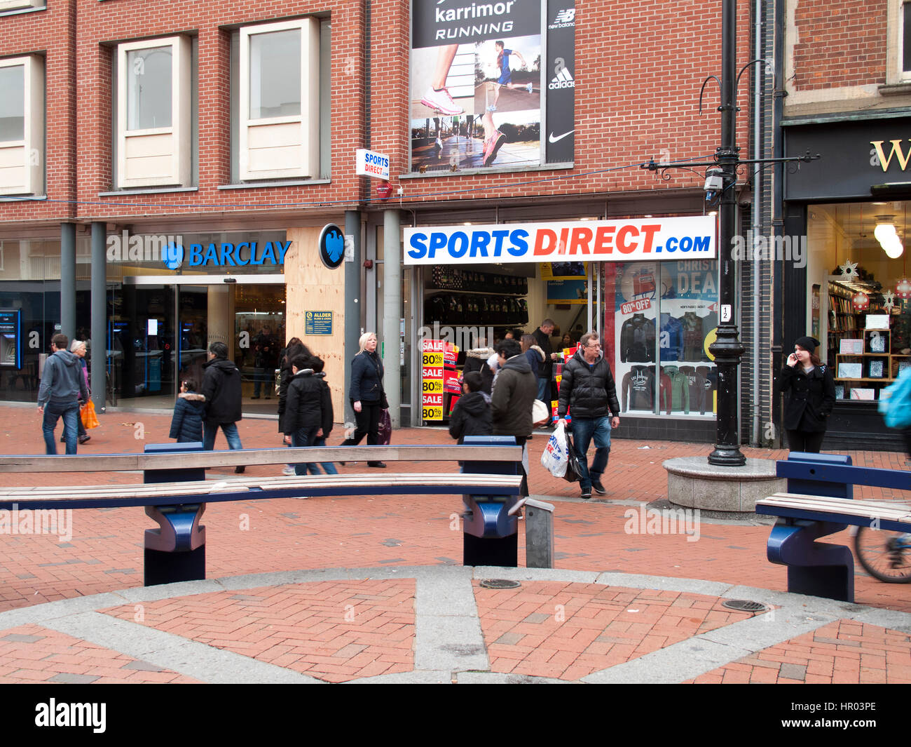 Sports Direct International plc, United Kingdoms largest sporting retailer, established by Mike Ashley in 1982 Stock Photo