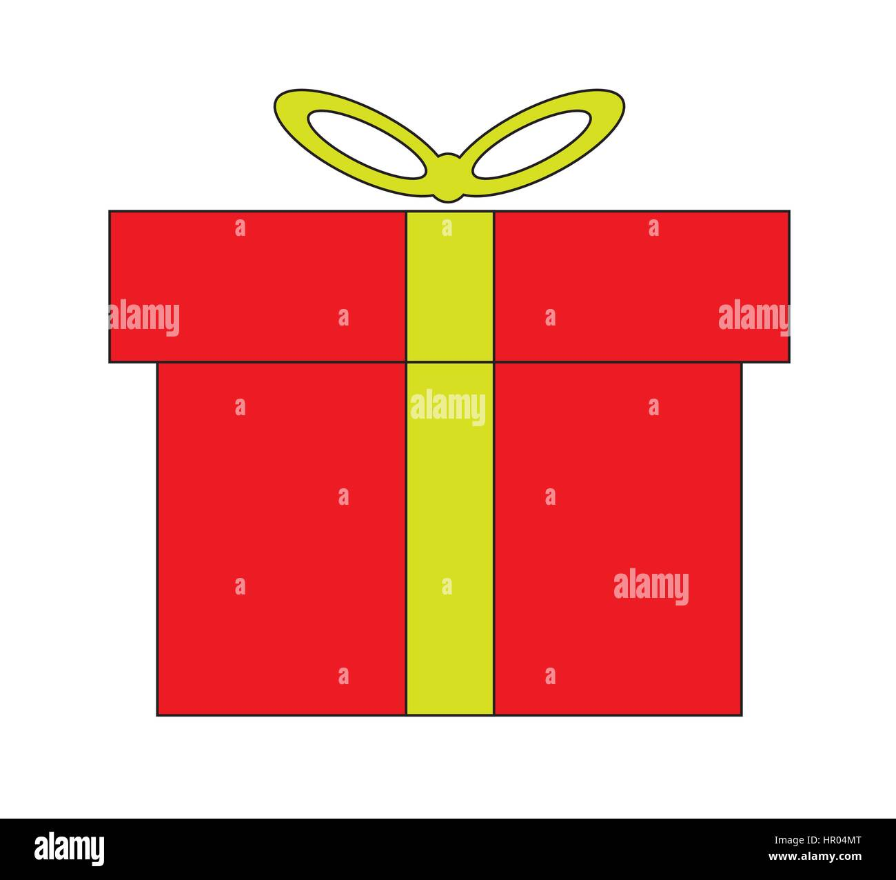 Gift box icon vector isolated in white background. - Stock Image