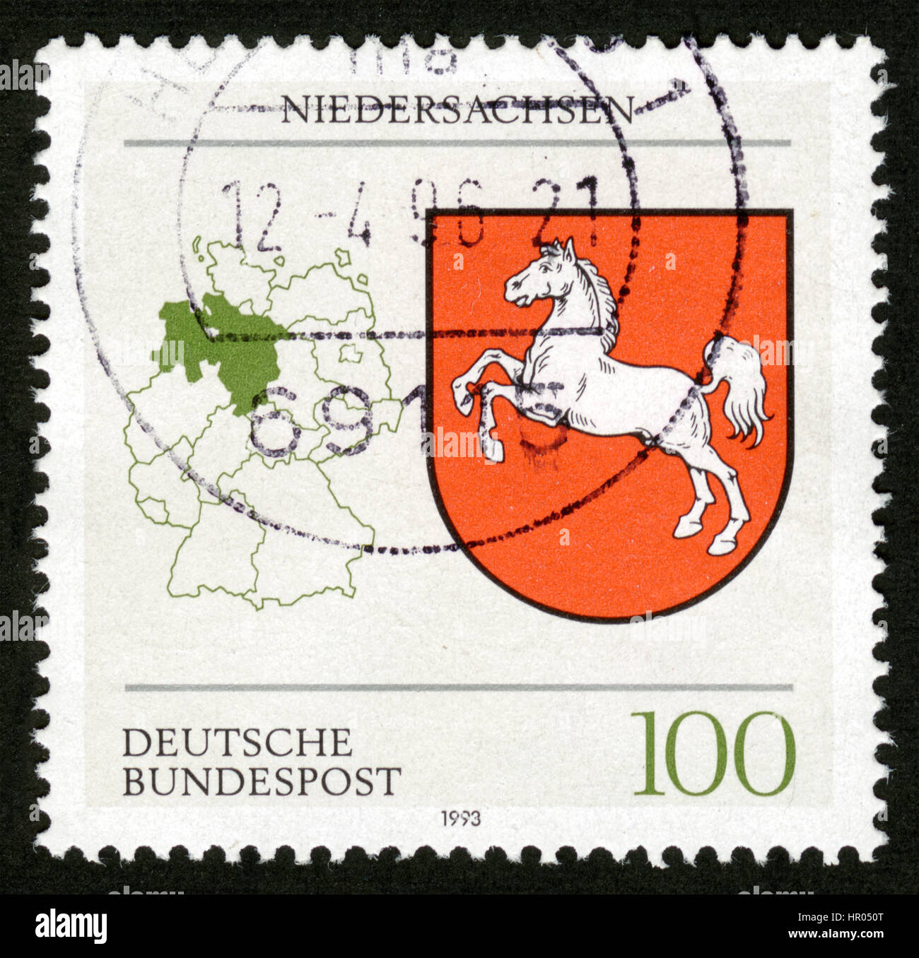Germany postage stamps - Stock Image