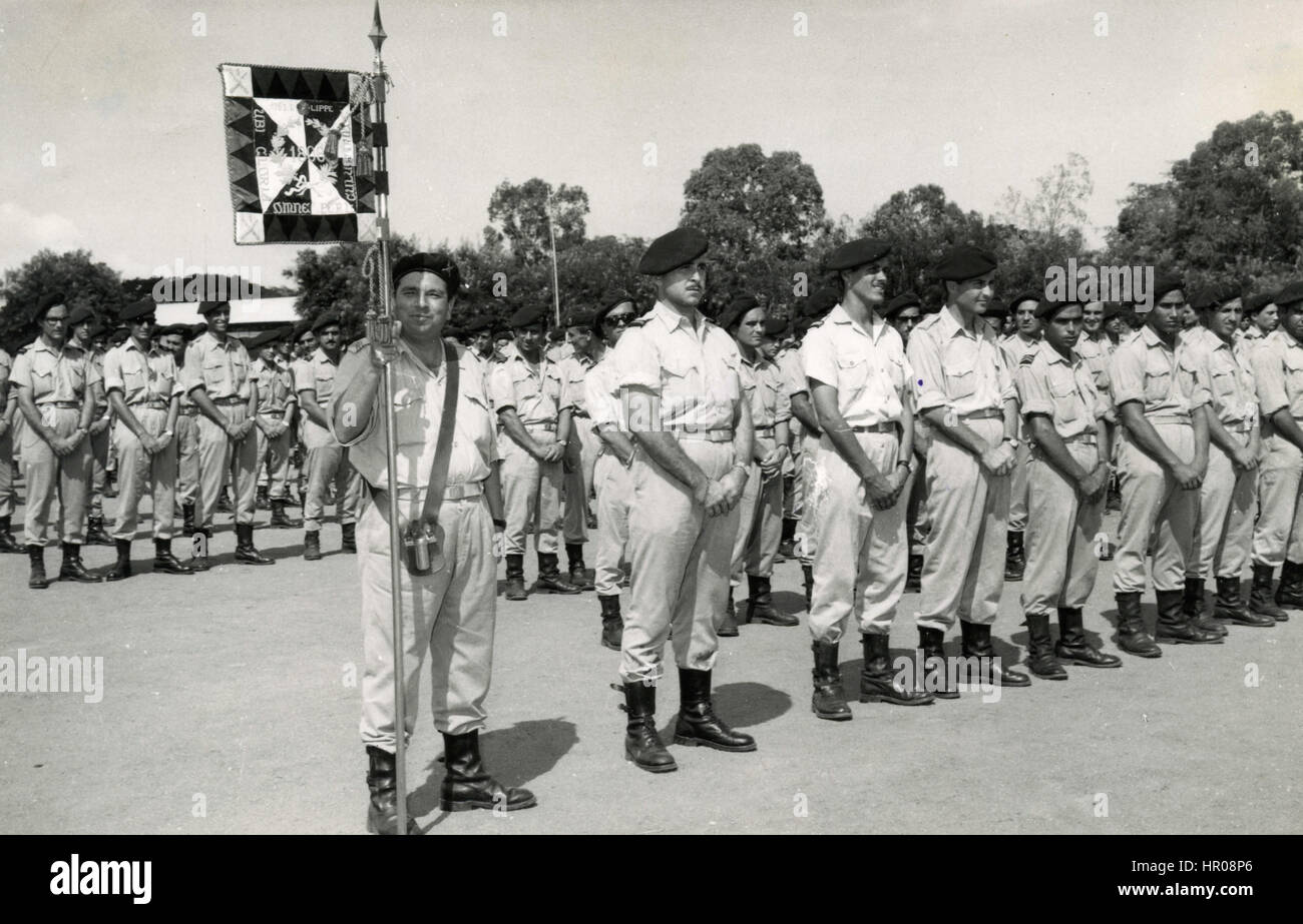 Infantry Regiment of soldiers Luanda, Angola - Stock Image
