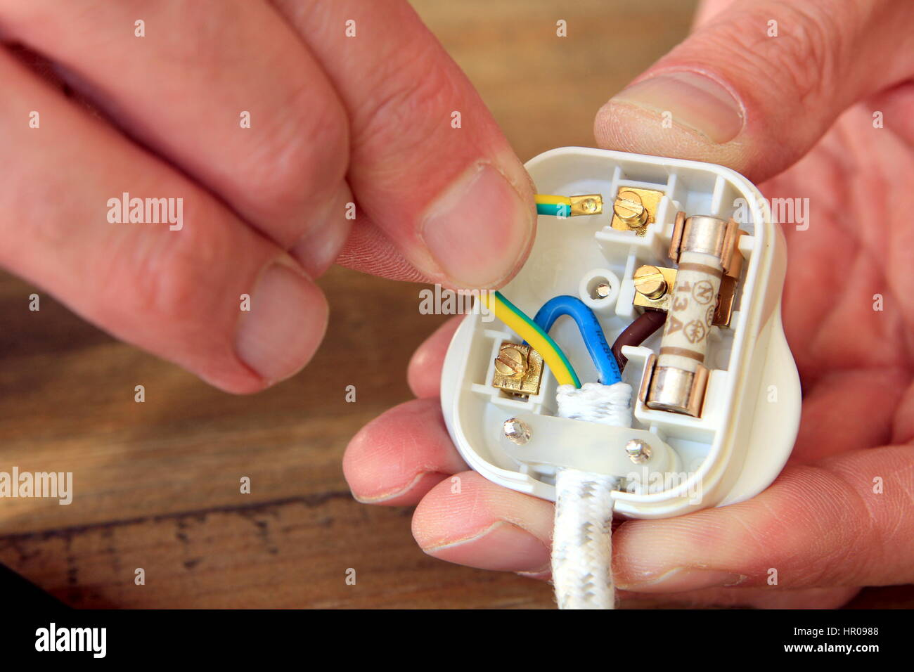 For 13 Amp Plug Stock Photos Images Alamy Rewiring A European To Us Uk Domestic Electric Image