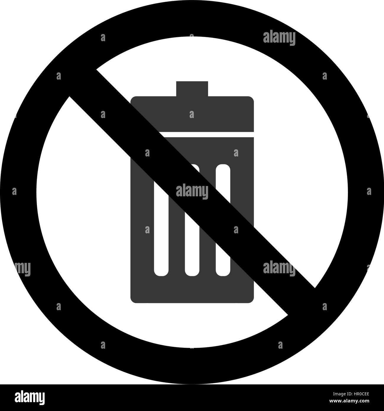 Dont Litter Stock Vector Images Alamy