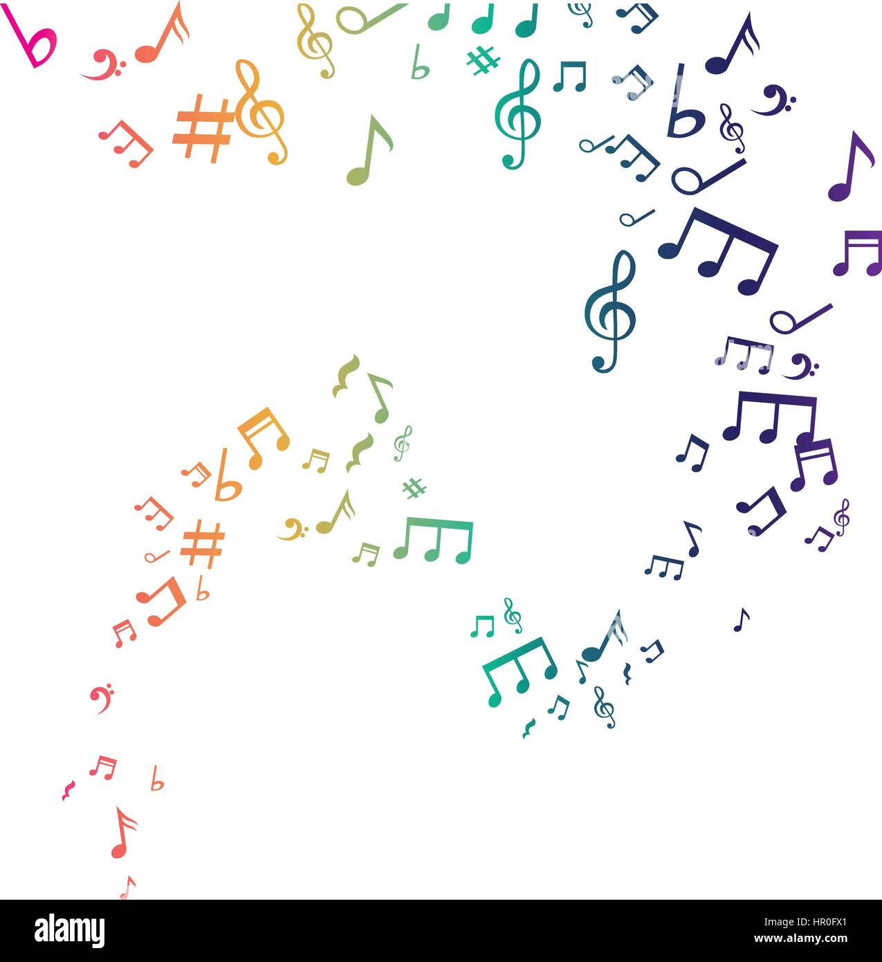 Yellow Music Notes Stock Photos Yellow Music Notes Stock Images