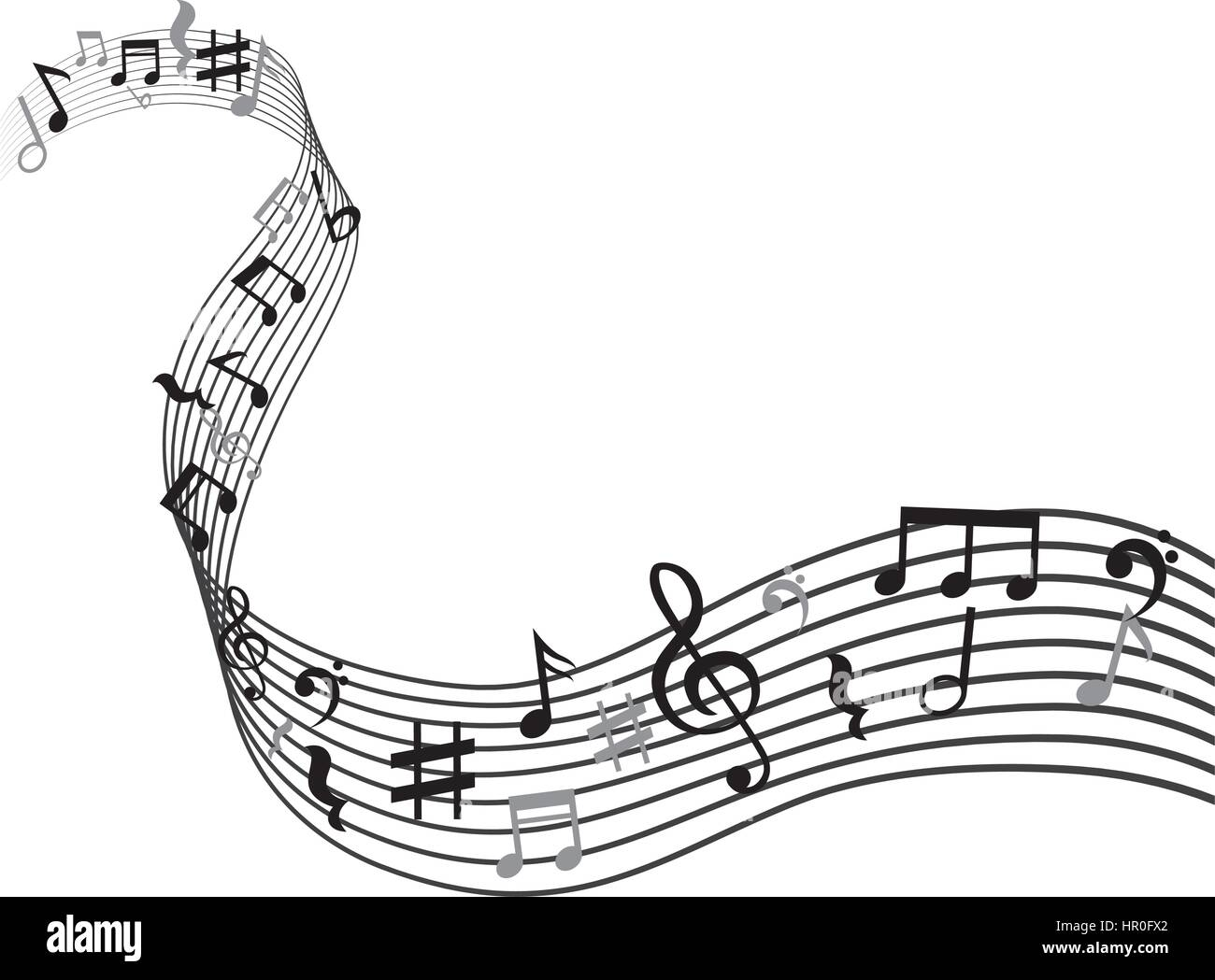 Music Notes Symbol Stock Vector Art Illustration Vector Image