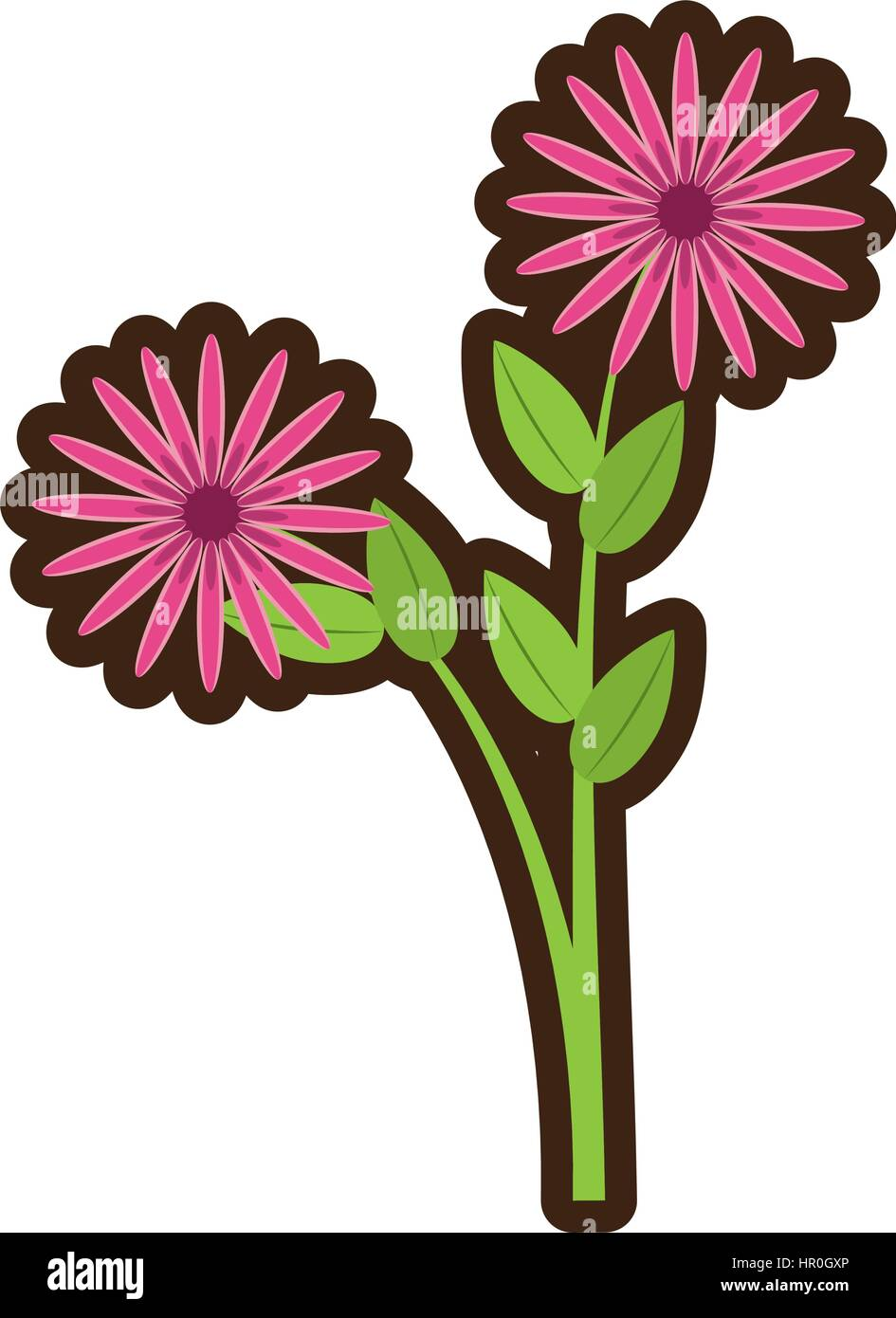 Cartoon daisy flowers bunch flora stock vector art illustration cartoon daisy flowers bunch flora izmirmasajfo