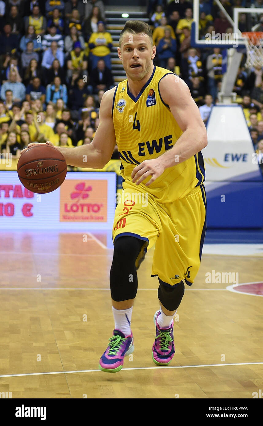 Oldenburg's Chris Kramer during the game between EWE Baskets Oldenburg vs. ratiopharm Ulm in the main EWE Arena, - Stock Image