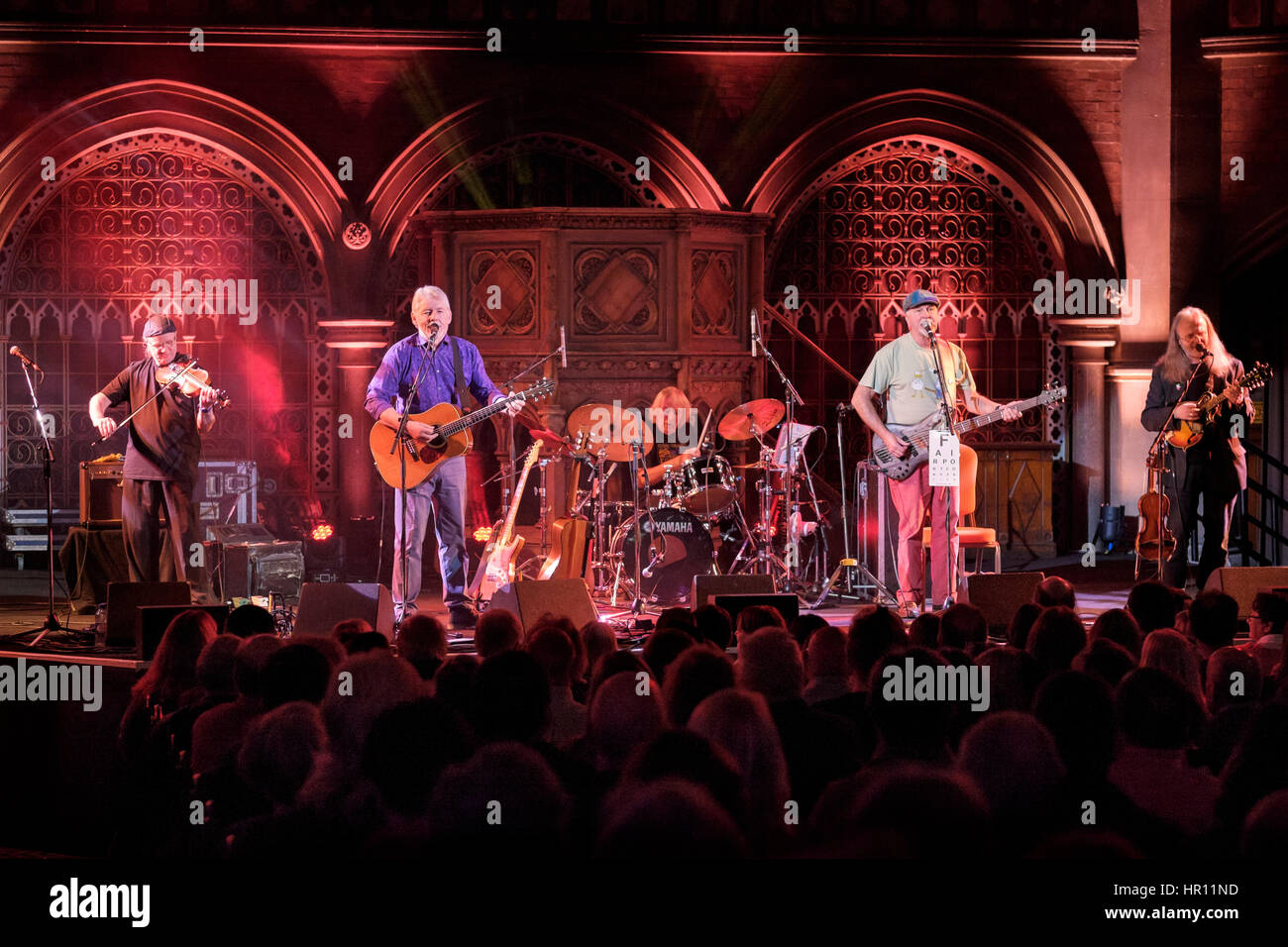 London, UK. 25th Feb, 2017. Fairport Convention performing at the Union Chapel during their 50th Birthday Party - Stock Image