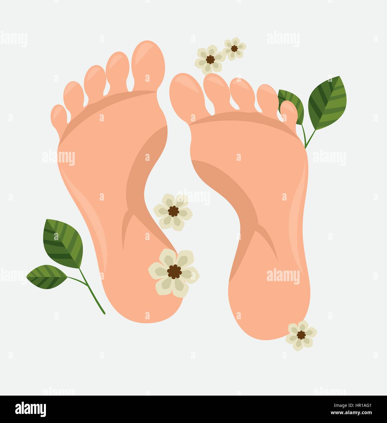 human foots spa treatment - Stock Vector