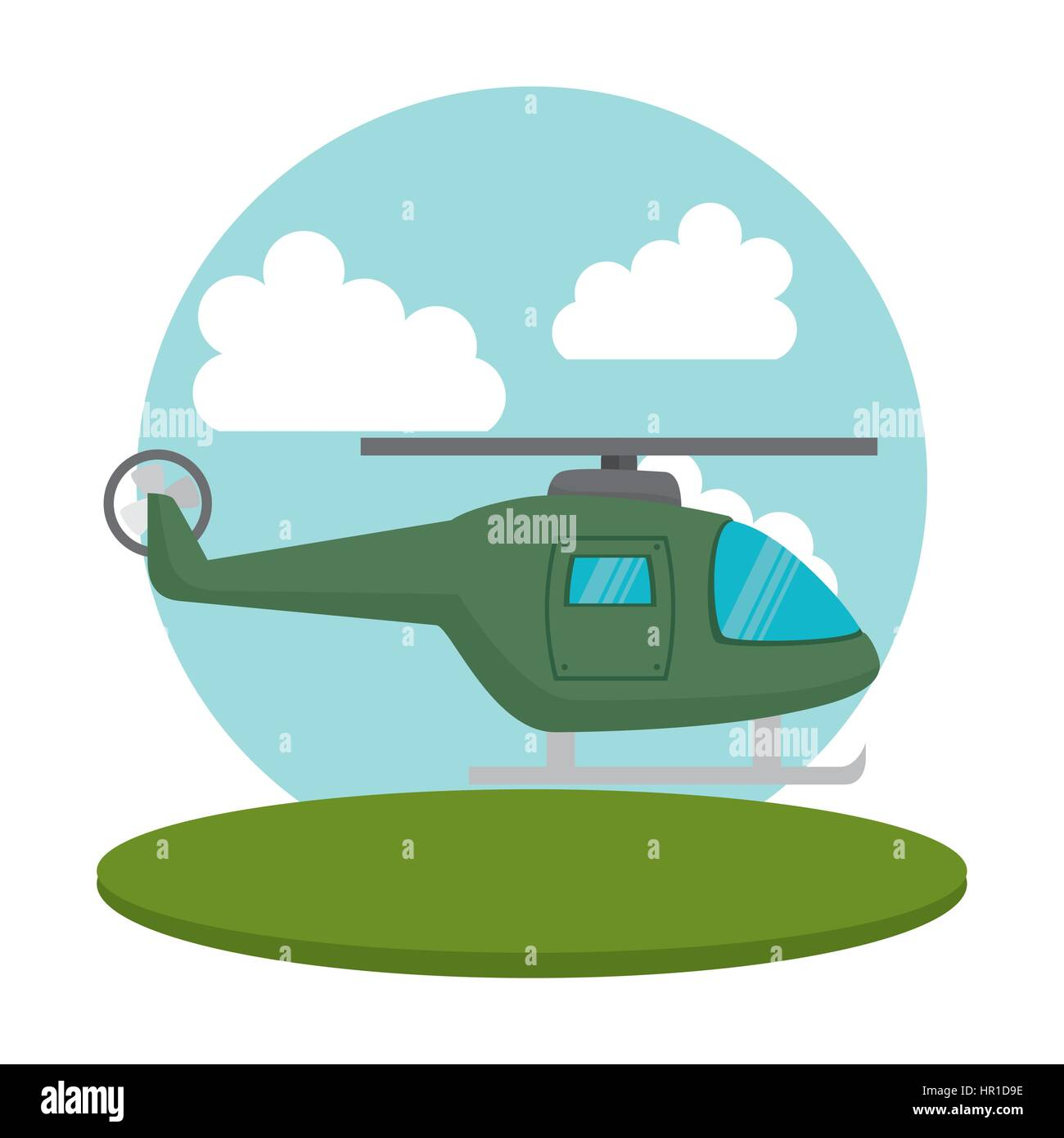 helicopter flight transport icon - Stock Vector