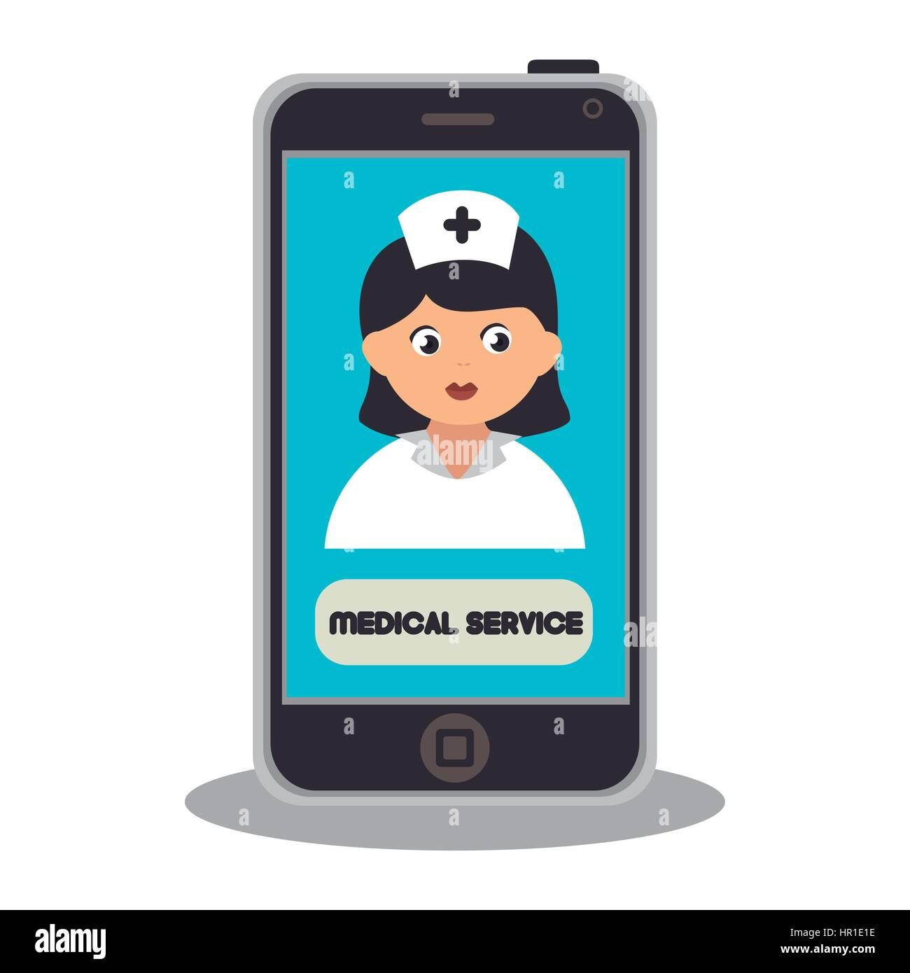 healthcare professional avatar character - Stock Image