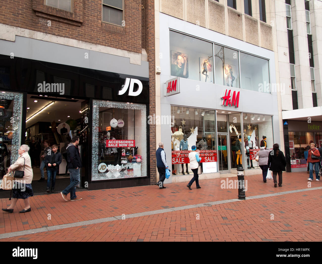 JD Sports Fashion plc sporting retailer, established by John Wardle and David Makin in 1981 Stock Photo